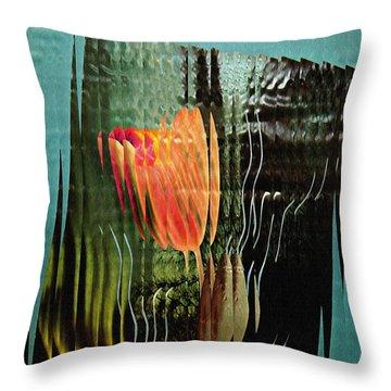 Electric Tulip 2 Throw Pillow by Sarah Loft