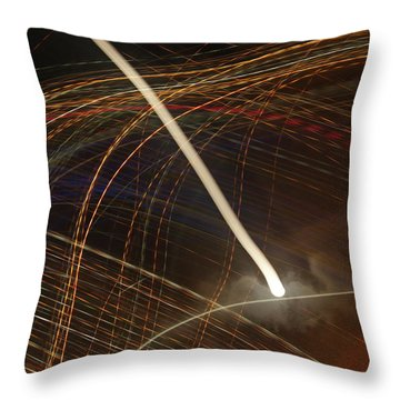 Electric Universe Throw Pillow