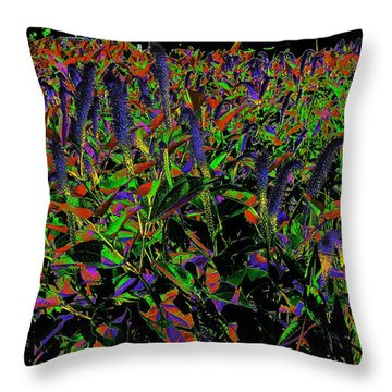 Electric Vision Throw Pillow