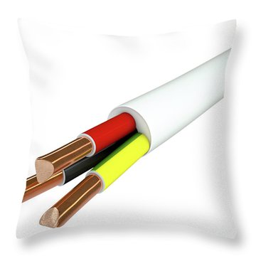 Electrical Cable Throw Pillow