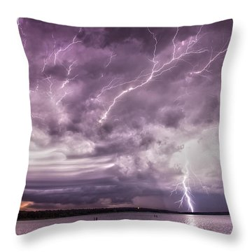 Electrical Mayhem Throw Pillow