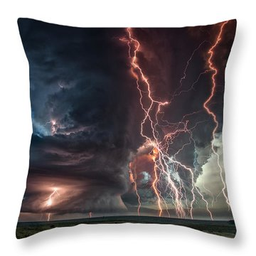 Electrical Storm Throw Pillow