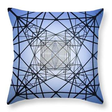 Electrical Symmetry Throw Pillow
