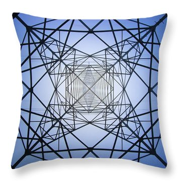 Electrical Symmetry Throw Pillow