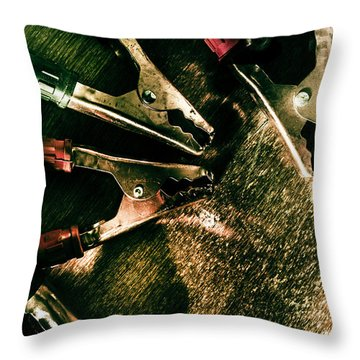Electrical Workshop Leads Throw Pillow