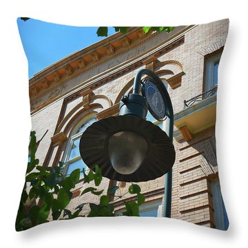 Throw Pillow featuring the photograph Electrifying  Architecture by Skip Willits