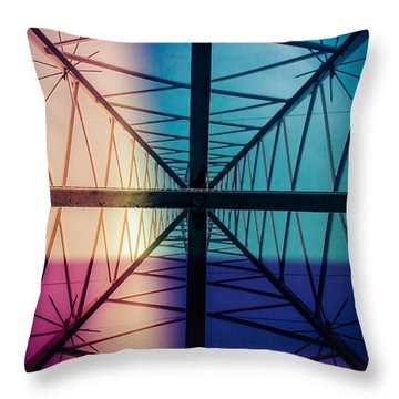 Electromagnetic Fields Throw Pillow by Cesare Bargiggia