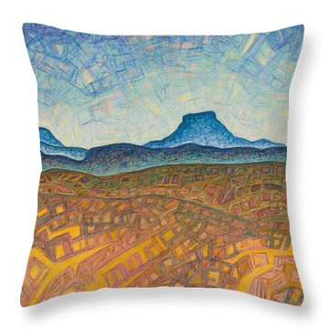 Electromagnetic Observation Throw Pillow by Dale Beckman