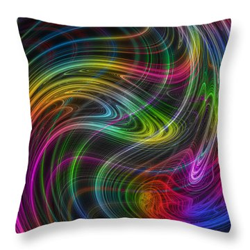 Throw Pillow featuring the photograph Electron Storm by Mark Blauhoefer