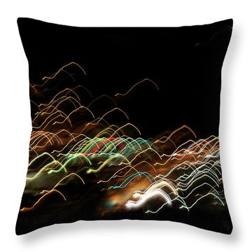 Electronic Landscape Throw Pillow