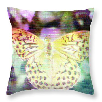Throw Pillow featuring the digital art Electronic Wildlife  by Bee-Bee Deigner