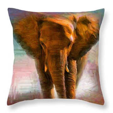 Elephant 1 Throw Pillow by Caito Junqueira