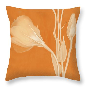 Elegance In Apricot Throw Pillow