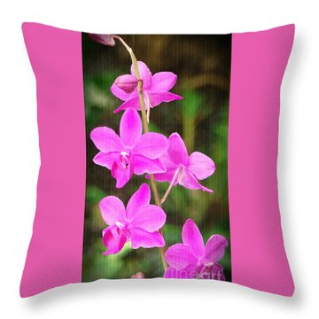 Elegance In Nature Throw Pillow by Sue Melvin