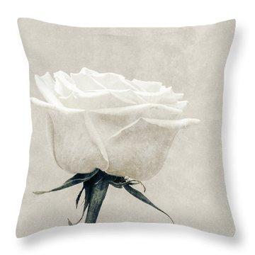 Elegance In White Throw Pillow