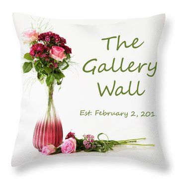 Throw Pillow featuring the photograph Elegance-the Gallery Wall Logo by Wendy Wilton