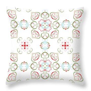 Elegant Christmas #02 Throw Pillow