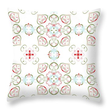 Elegant Christmas #02 Throw Pillow