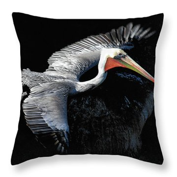 Throw Pillow featuring the photograph Elegant Flight by Howard Bagley