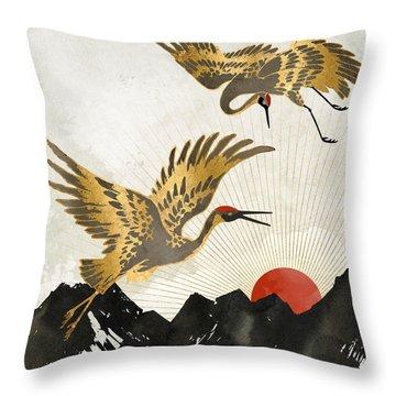 Elegant Flight II Throw Pillow