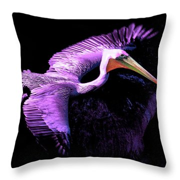 Throw Pillow featuring the photograph Elegant Flight In Violet by Howard Bagley