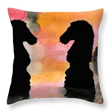 Elegant Game Throw Pillow by R Kyllo