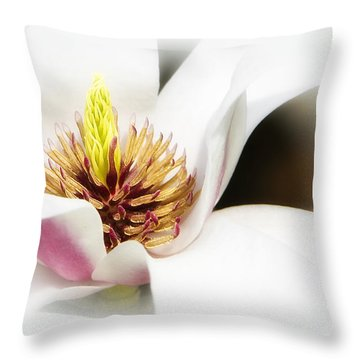 Elegant Magnolia Throw Pillow