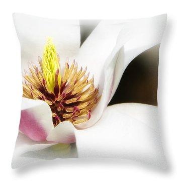 Throw Pillow featuring the photograph Elegant Magnolia by Ken Barrett