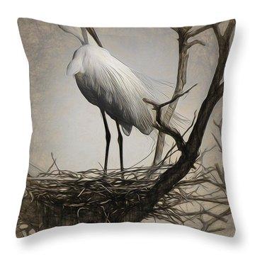 Elegant Mother Throw Pillow