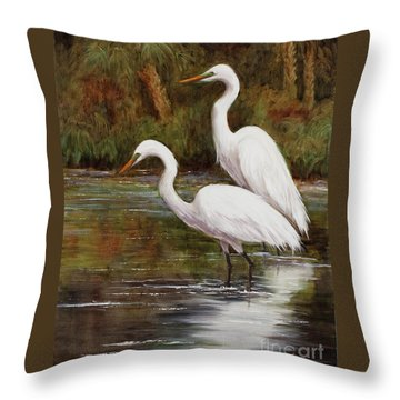 Elegant Reflections Throw Pillow