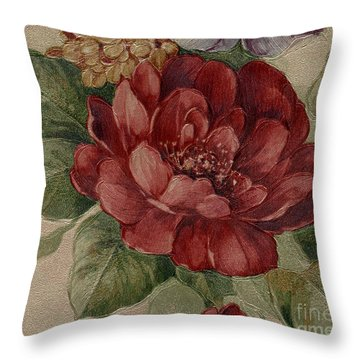 Elegant Rose Throw Pillow