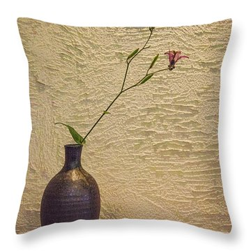 Elegant Still Life Throw Pillow