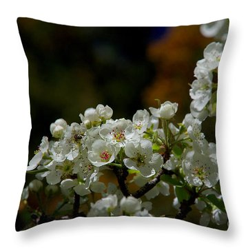 Elegantly White Throw Pillow