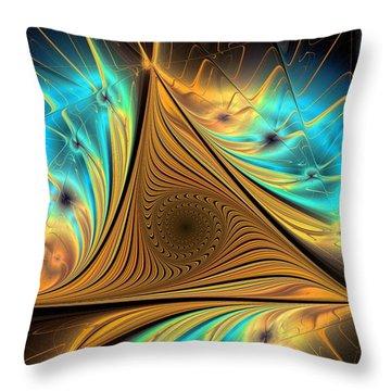 Throw Pillow featuring the digital art Element by Anastasiya Malakhova