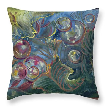 Elemental Bubbles Throw Pillow