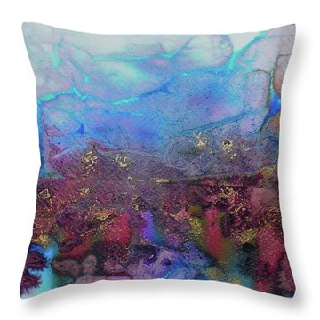 Throw Pillow featuring the painting Elemental by Mary Sullivan