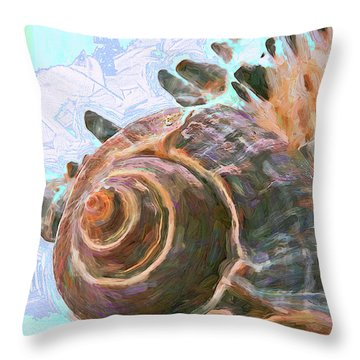 Throw Pillow featuring the mixed media Elemental Presence 15 by Lynda Lehmann
