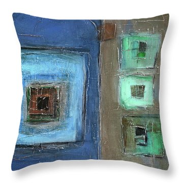 Elements Throw Pillow by Behzad Sohrabi