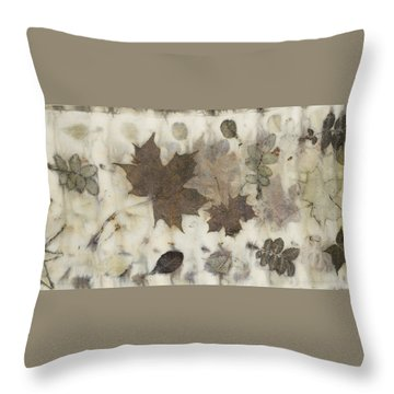 Elements Of Autumn Throw Pillow