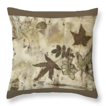 elements of autumn II Throw Pillow