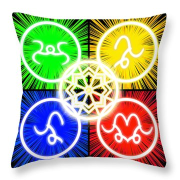 Throw Pillow featuring the digital art Elements Of Consciousness by Shawn Dall