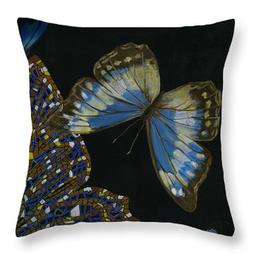 Elena Yakubovich - Butterfly 2x2 Top Right Corner Throw Pillow