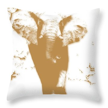 Elephant 2 Throw Pillow