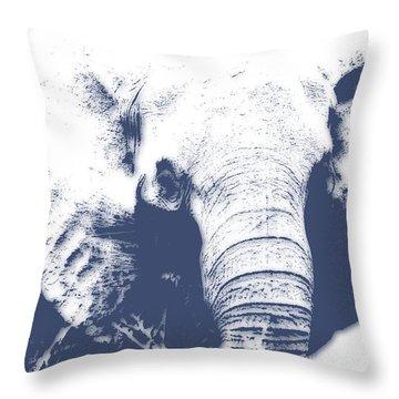 Elephant 4 Throw Pillow by Joe Hamilton