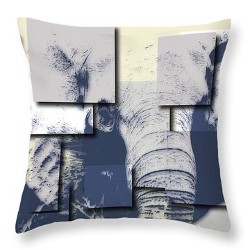 Elephant 5 Throw Pillow