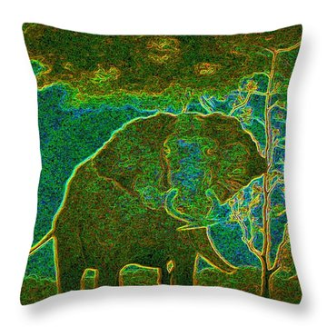 Elephant Abstract Throw Pillow by John Stuart Webbstock