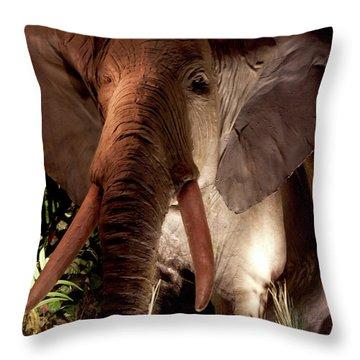 Elephant At Rainforest Cafe Throw Pillow