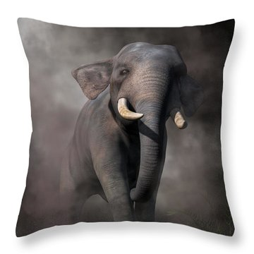 Elephant Throw Pillow by Daniel Eskridge