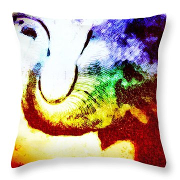 Elephant Energy Throw Pillow