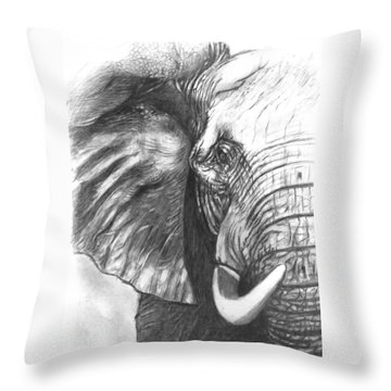 Elephant For Alabama  Throw Pillow